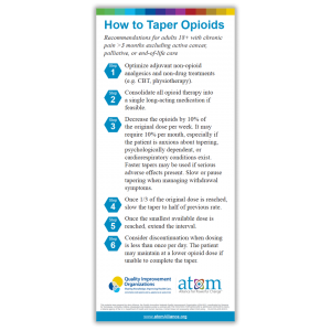 How to Taper Opioids