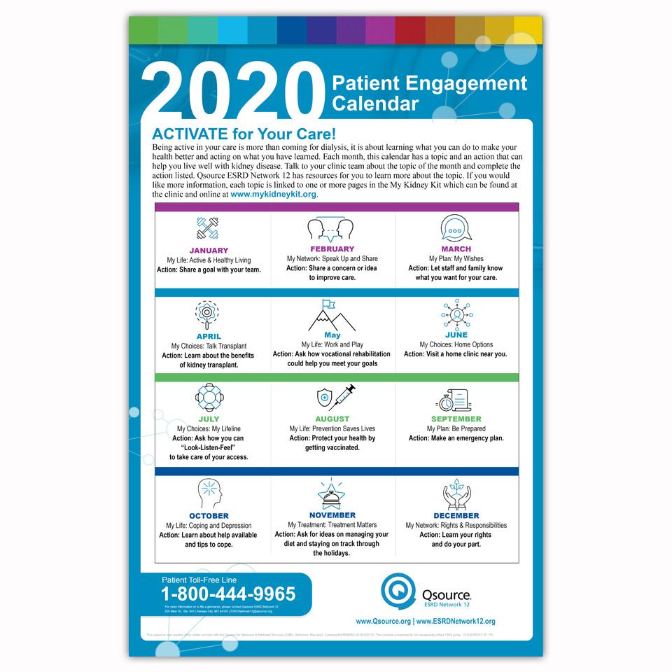 patient engagement calendar