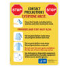 Contact Precautions Sign (English)