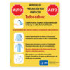 Contact Precautions Sign (Spanish)