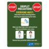 Droplet Precautions Sign (English)