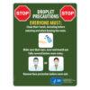 Droplet Precautions Sign (English)