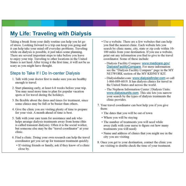 My Life Traveling with Dialysis